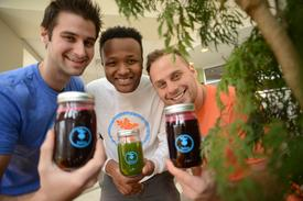 Entrepreneurial trio squeezing the moment for all its worth with juice startup