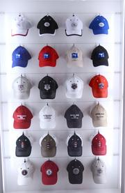 There's even an unbelievable selection of caps.
