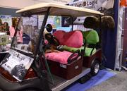 This company wasn't selling the golf cart. They were selling the plushy seat covers. Everything has an accessory in golf.