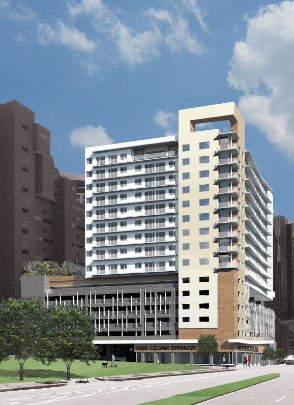 Hill & Wilkinson is readying to begin construction on a new luxury residential high-rise at 1900 Cedar Springs in Uptown.