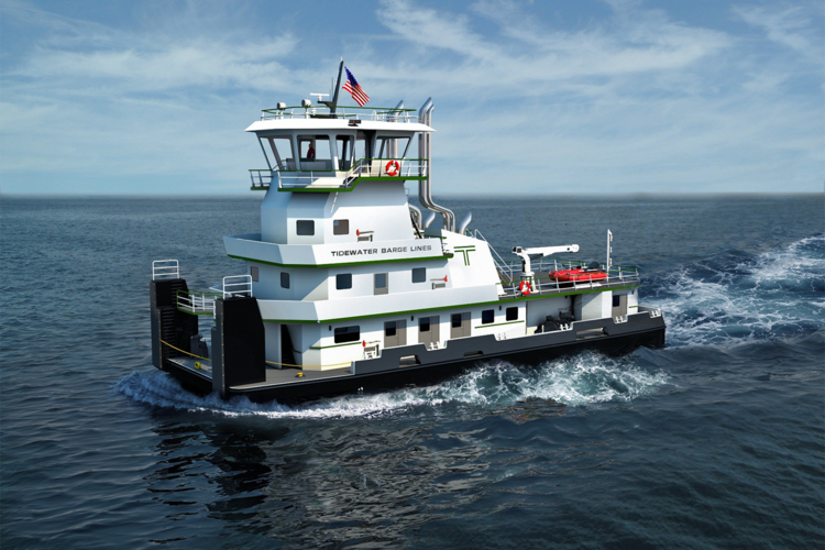 The new Tidewater tugs will be built at Vigor's Swan Island facility in Portland.