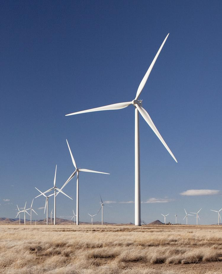 Vestas wind turbines, each capable of producing 1.8 megawatts of power. Xcel Energy wants to produce more of its electricity through wind.