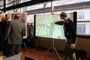 A video showed a rendering of the project plan during Wednesday's meeting.