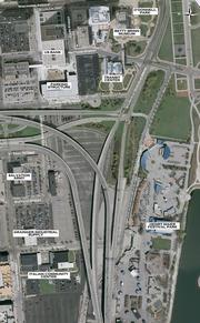 A current view of the Lakefront Gateway project area.