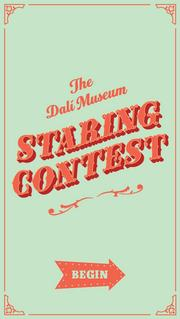 Home screen of the new Dali 'Staring Contest' app.