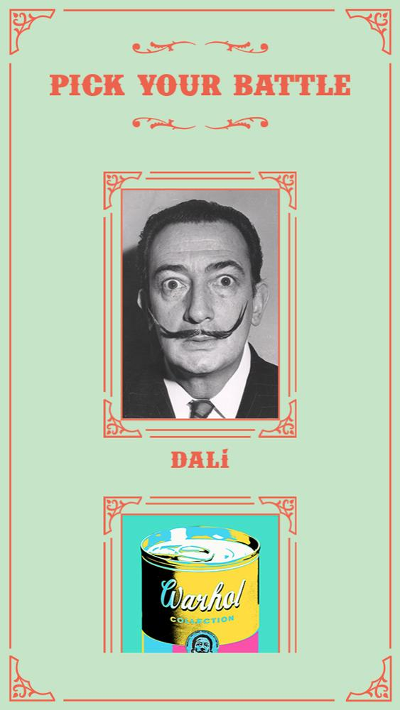 Players can choose Dalí and other opponents.