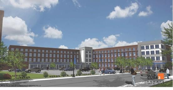 Sal Lupoli is planning to rehab the 132,759-square-foot former Comfort Furniture building in Lowell. Here is an artist's rendering of the project.