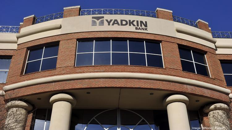Yadkin Bank's operations include an office at 4500 Cameron Valley Parkway in Charlotte's SouthPark area.