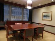 A small conference room.
