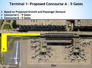 Wonder why there's no Concourse A in terminal 1 at FLL? That's because it hasn't been built. Terminal 1 is the newest concourse at the airport and was built in stages between 2001 and 2003.