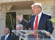 Trump speaks at the unveiling of the Gary Player Villa at the Trump National Doral resort.