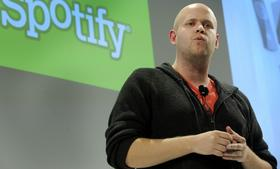 Daniel Ek, chief executive officer of Spotify Ltd., speaks at a news conference in New York in 2011. Spotify Ltd., the music-streaming service, will open its site to software developers to attract new users with features such as ticket sales and song lyrics. P