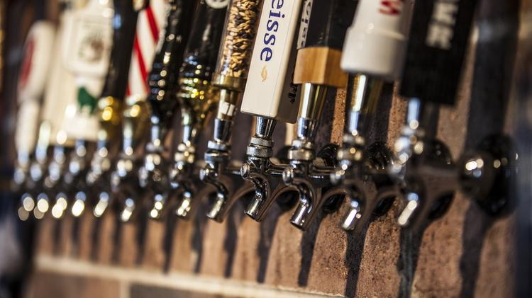 Ubeer Gastropub in St. Francis has 24 rotating beers available on tap.