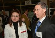 Honoree Monica Navarro CFO and Mark Dhooge from Kids in Distress.