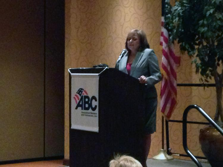 Gov. Susana Martinez spoke to the Associated Builders and Contractors of New Mexico on Thursday.
