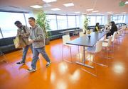 Family style: The lunchroom at Apigee is designed to encourage employees to eat together and get to know each other.