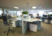 A DIRTT work station, which was moved over from the company's old Palo Alto headquarters.