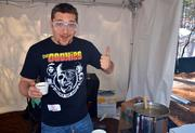 Downtown Raleigh's '80s bar Coglin's was on-hand serving up chili at the event. Bar owner Zack Medford was having fun at the ChiliBrew Fest.