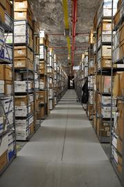 Iron Mountain has 13 rooms of physical co-storage space. Everything is cataloged and put into Iron Mountain's system so they know exactly where it is stored if a customer needs to get access.