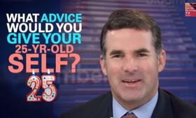 Under Armour CEO Kevin Plank tells Bloomberg Television what he'd tell his younger self: lose some weight.