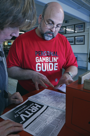 Personal gambling guide Cliff Pfenning has been coming to the track since he was 10 and learned the ropes from his grandfather.