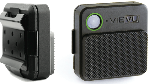 Body-worn videocameras made by Seattle-based Vievu can be used by police officers, factory and service workers, and people who want to blog their lives. Images can be transmitted in real time.