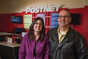 Liz and Jim Anderson relocated their PostNet store in 2013 to a new location closer to 21st and Greenwich. In 2008, when they first opened on Greenwich, Liz remembers Jim calling Greenwich the next Rock Road.