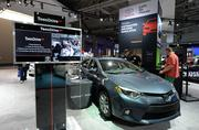 Teen Drive 365 features a simulator to gauge distracted driving at the 2014 Washington Auto Show.