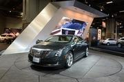 The 2014 Cadillac sits on display at the show.