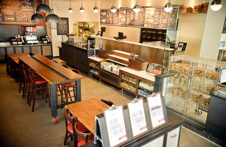 The new Woodbury Bruegger's Bagels is a prototype for future bagel shops