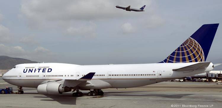 A Boeing Co. 747 jet for United Continental Holdings Inc.