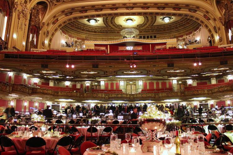 The Midland Theatre in Downtown Kansas City gets decked out for the Pipeline program.