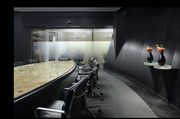 Board Room: The glass wall allows natural daylight to penetrate.