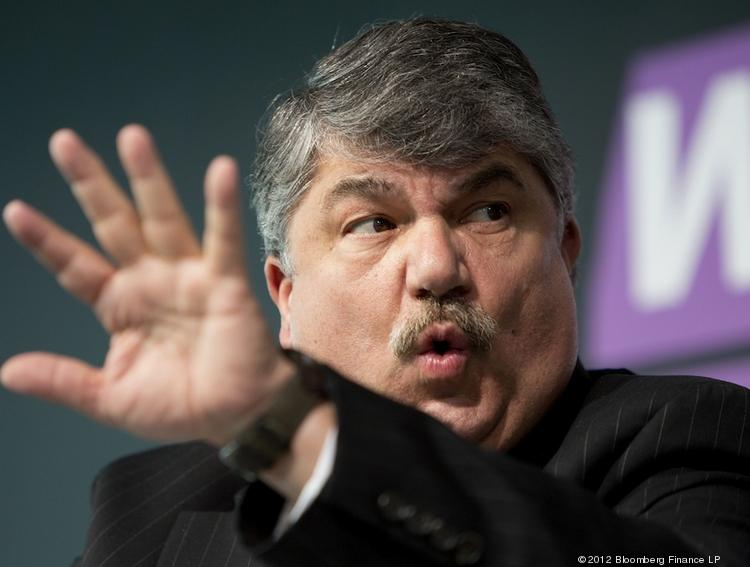 "AFL-CIO President Richard Trumka said he's encouraged by some union growth in the South, but notes that ""public-sector workers remain under attack."""
