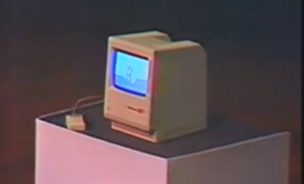 The first Mac unveiled by Steve Jobs on January 24, 1984.