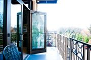 A balcony off of the break room.