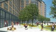 A view of the proposed apartments proposed for Parcel K in Boston's Seaport District.