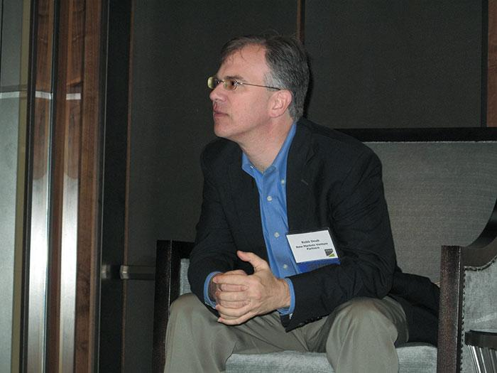 Robb Doub, a general partner at New Markets Venture Partners, speaks Friday at a Mid-Atlantic Venture Association event.