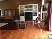 13103 Lester Drive: The great room features hardwood floors.