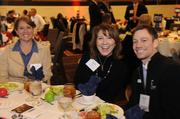 Midwest Public Risk's Kelly Kilgore and Deb Heishman sit with Rick Edgerton of Cigna, a presenting sponsor of the 2014 Healthiest Employers event.