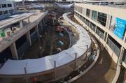 The walkway from the new DART station to Terminal A.