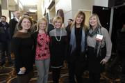 Jane Hughes (far right) of Assurant Employee Benefits and four other attendees pose for a photo at the 2014 Healthiest Employers luncheon. The company was an honoree in the 3,500+ employees category.