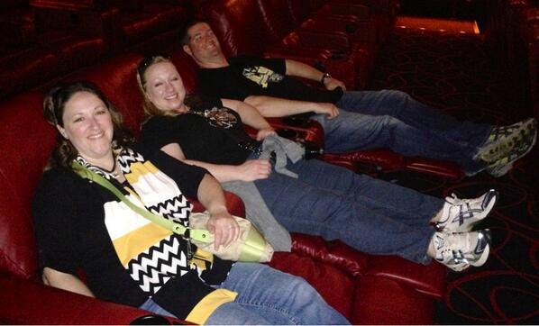 Shocker fan Damon Ward sent this photo of his group showing off the reclining seats at the Phipps Plaza movie theater in Atlanta.
