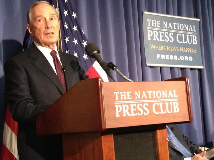 Former New York City Mayor Michael Bloomberg talks about the economic benefits of immigration reform Friday.