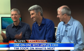 Apple CEO Tim Cook, senior vice-president Craig Federighi, and software vice president Bud Tribble interviewed by ABC News.