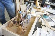 A model of the King Tut chariot that will be built life-size