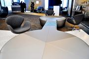 Funky lounge and seating areas.