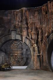 A massive set design that will be part of the new Gringotts ride at the Diagon Alley expansion.