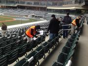 Fans choose their seats for the 2014 season at BB&T Ballpark uptown on Saturday. Flip through these slides for a look at the latest progress at the baseball stadium.