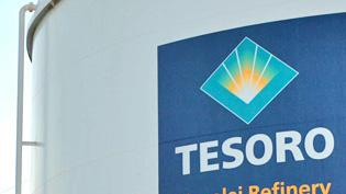 File photo of a Tesoro Corp. complex. The company has agreed to build a new 23-mile pipeline across Alaska's Cook Inlet.